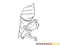 Glace illustration – Cartoons à imprimer