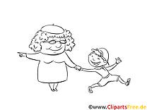 Grand-mère images gratuites – Cartoons à colorier