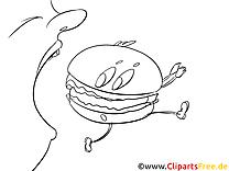 Hamburger cliparts gratuis – Cartoons à imprimer