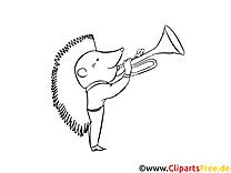 Hérisson image gratuite – Cartoons à colorier