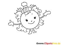 Hiver image gratuite – Cartoons à colorier