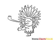 Indien dessin – Cartoons gratuits à imprimer