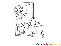 Invités clipart – Cartoons dessins à colorier
