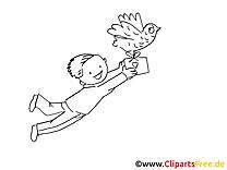 Lettre images gratuites – Cartoons à colorier