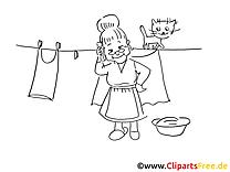 Linge dessin – Coloriage cartoons à télécharger