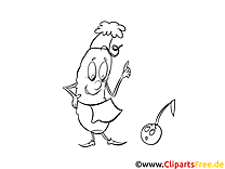 Maïs images gratuites – Cartoons à colorier