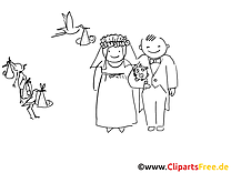 Mariage clip arts – Cartoons à imprimer