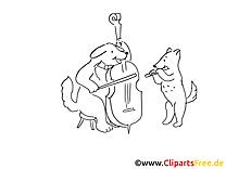 Musiciens clip arts – Cartoons à imprimer