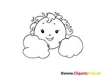 Nuages clip arts – Cartoons à imprimer