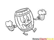 Oktoberfest dessin à télécharger – Cartoons à colorier