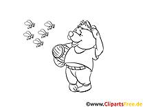 Ours clipart gratuit – Cartoons à colorier