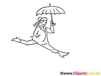 Parapluie images – Cartoons gratuits à imprimer