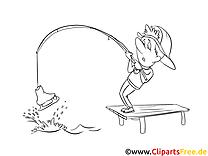 Pêche image – Cartoons images à colorier