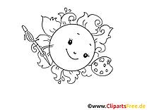 Pinceau clip art gratuit – Cartoons à colorier