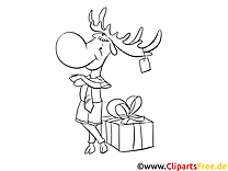 Renne clip art gratuit – Cartoons à imprimer