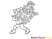 Sapin images gratuites – Cartoons à colorier