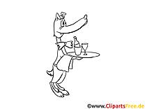 Serveur illustration – Coloriage cartoons cliparts