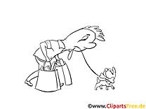 Shopping illustration – Cartoons à colorier