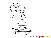 Skateboard image à télécharger – Cartoons à colorier