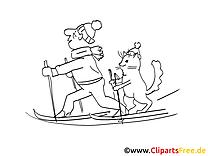 Ski image – Cartoons images à colorier