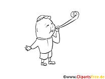 Soirée clipart gratuit – Cartoons à colorier