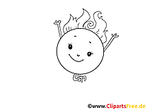 Soleil dessin – Coloriage cartoons à télécharger