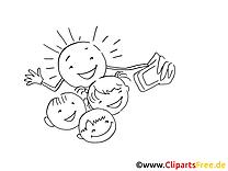 Sourires dessins gratuits – Cartoons à colorier