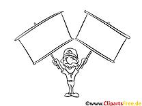 Tableaux image gratuite – Cartoons à colorier