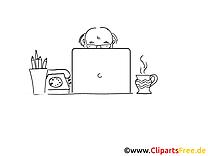 Travail image à télécharger – Cartoons à colorier