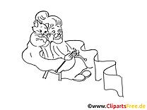 Tricotage images – Cartoons gratuits à imprimer