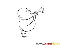 Trompette dessins gratuits – Cartoons à colorier