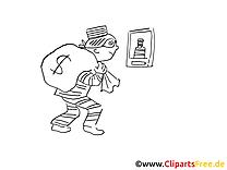Voleur dessin à télécharger – Cartoons à colorier