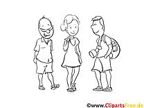 Amis clipart – Gens dessins à colorier