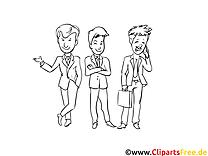 Businessmen clipart gratuit – Gens à colorier