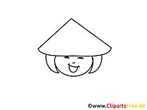 Chinois dessin – Coloriage gens à télécharger
