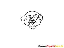 Clip art grand-père – Gens image à colorier