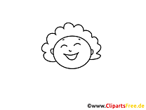 Clipart gratuit femme – Gens à colorier