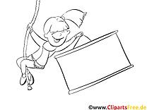 Corde  dessin gratuit – Cartoons à colorier