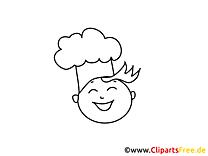Cuisinier dessin gratuit – Gens à colorier