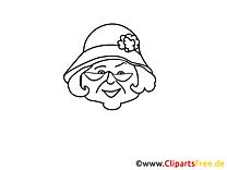 Dame clipart – Gens dessins à colorier