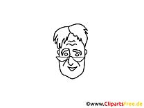 Dessins gratuits homme – Gens à colorier