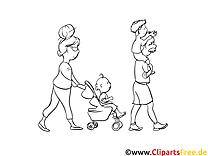 Famille clip art gratuit – Gens à imprimer