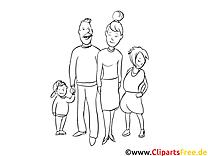 Famille images gratuites – Gens à colorier