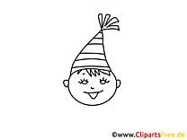 Fête garçon clipart gratuit – Gens à colorier