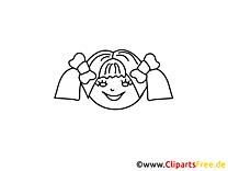Fille clip arts – Gens à imprimer