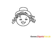 Fille image gratuite – Gens à colorier