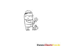Fleur chien image gratuite – Gens à colorier