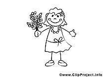 Fleurs dessin – Coloriage gens à télécharger