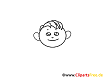 Garçon clipart – Gens dessins à colorier