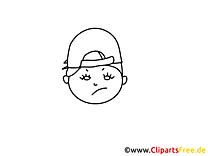 Garçon dessins gratuits – Gens à colorier